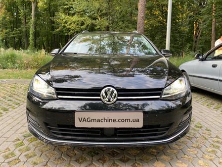Установка адаптивных фар с DLA. VW Golf 7 Sportwagen SEL+P04 2.0TDI DSG6 2015.