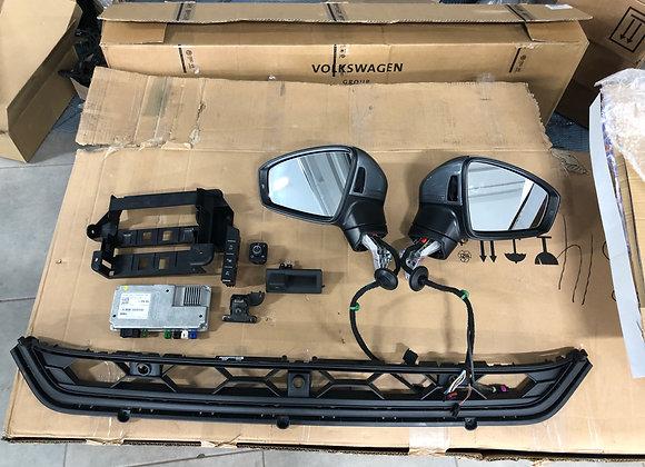 Круговой обзор Area View и ассистенты Side Assist/ RTA для VW Tiguan 5NA.