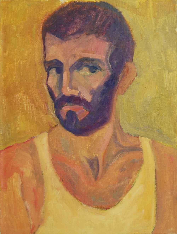 4-Autoportrait_1982_45,5x60_Huile-Toile