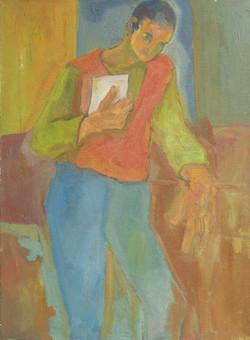 7-Jeune-homme-debout_60x80_Huile-Toile_1982