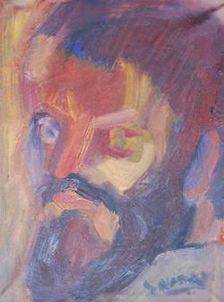 7-Autoportrait_1984_16x22_Huile-Toile