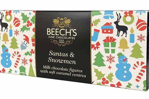 Beeches Chocolate Caramel Santas & Snowmen