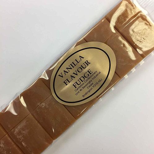 Vanilla flavoured fudge bar