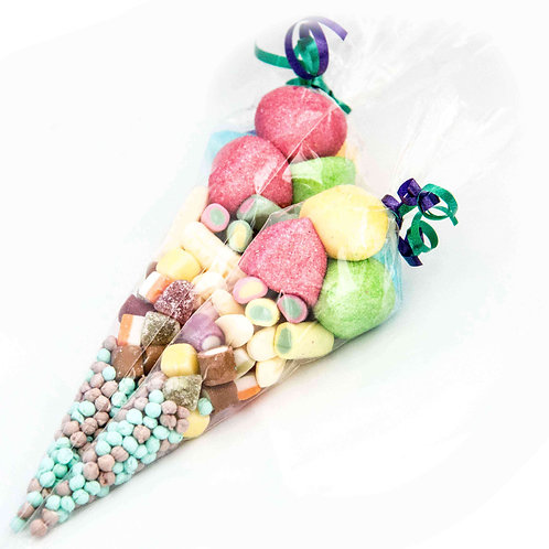 Mixed Colours Party Cones