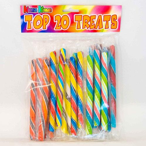 20 sticks of rock