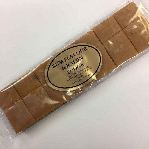 Rum & Raisin Flavour Fudge Bar