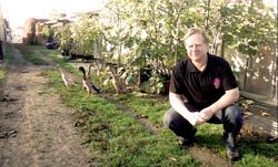 Harald Thiesz und seine Laufenten
