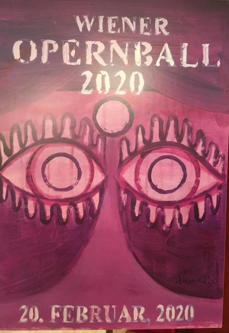 Offizielles Plakat Wiener Opernball 2020