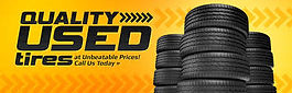 WE SELL QUALITY USED TIRES
