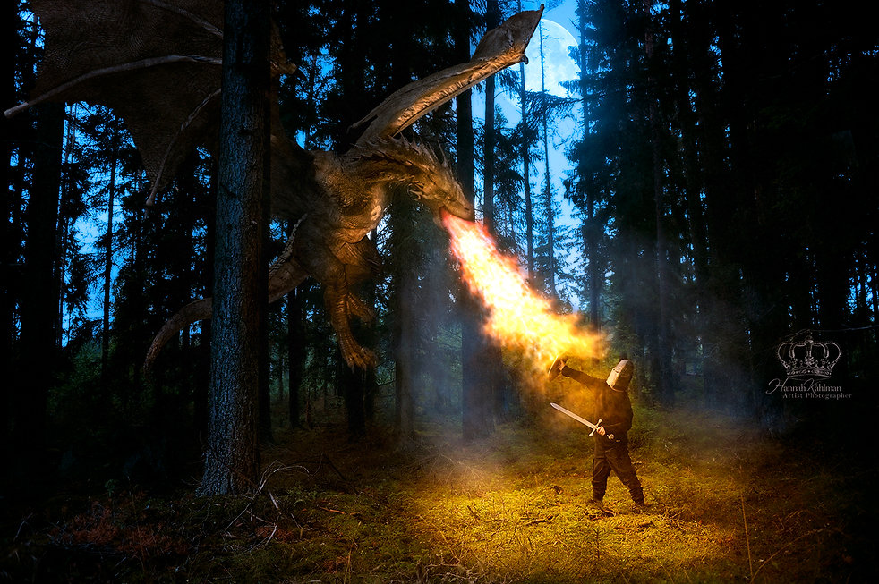 Boy_fighting_dragon_in_forest_in_fantasy