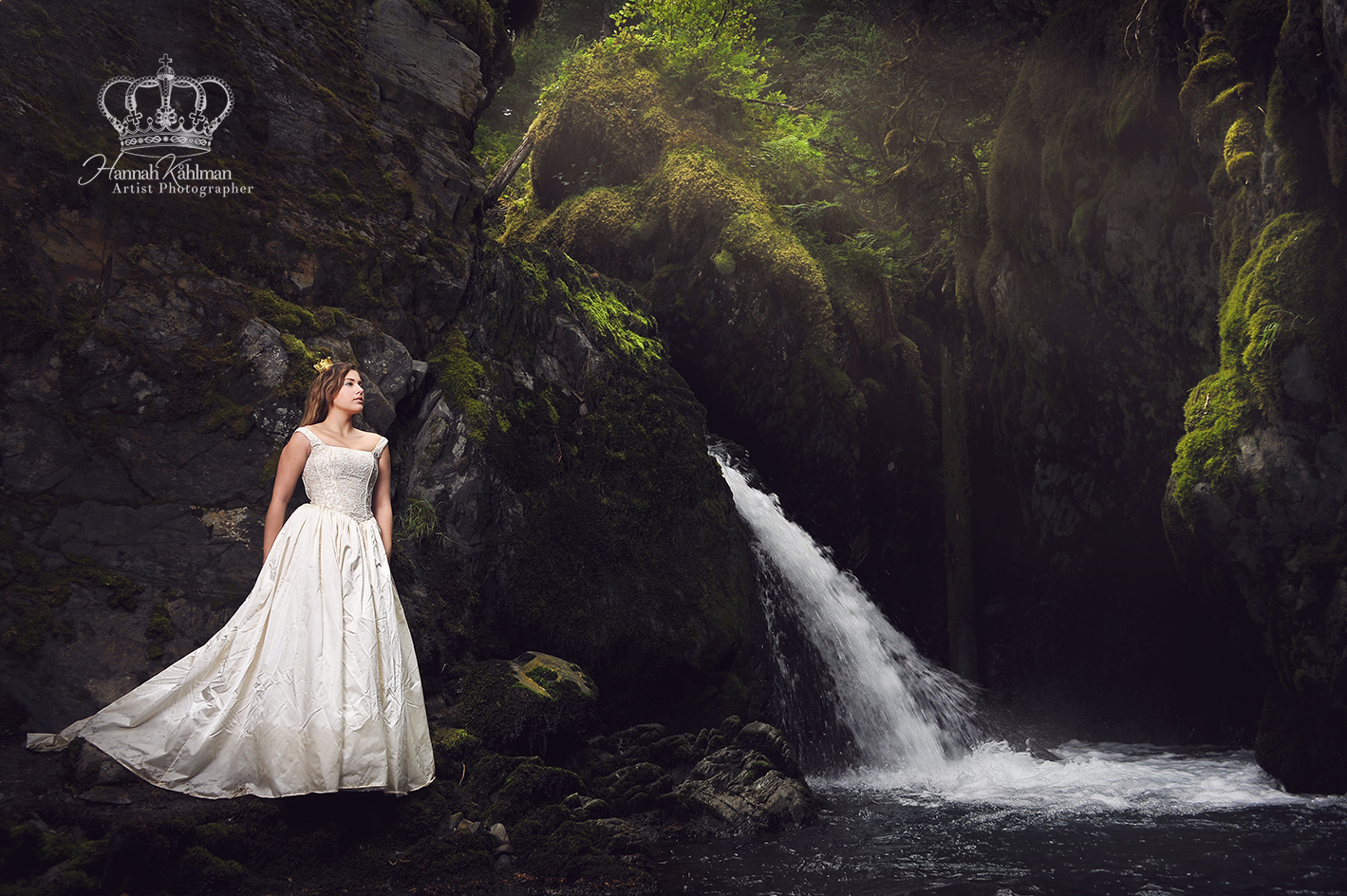 Miss_Alaska_Malie_Delgado_KGOT_radio_at_Girdwood_Virgin_waterfall_by_Anchorage_Alaska_Eagle_River_Al