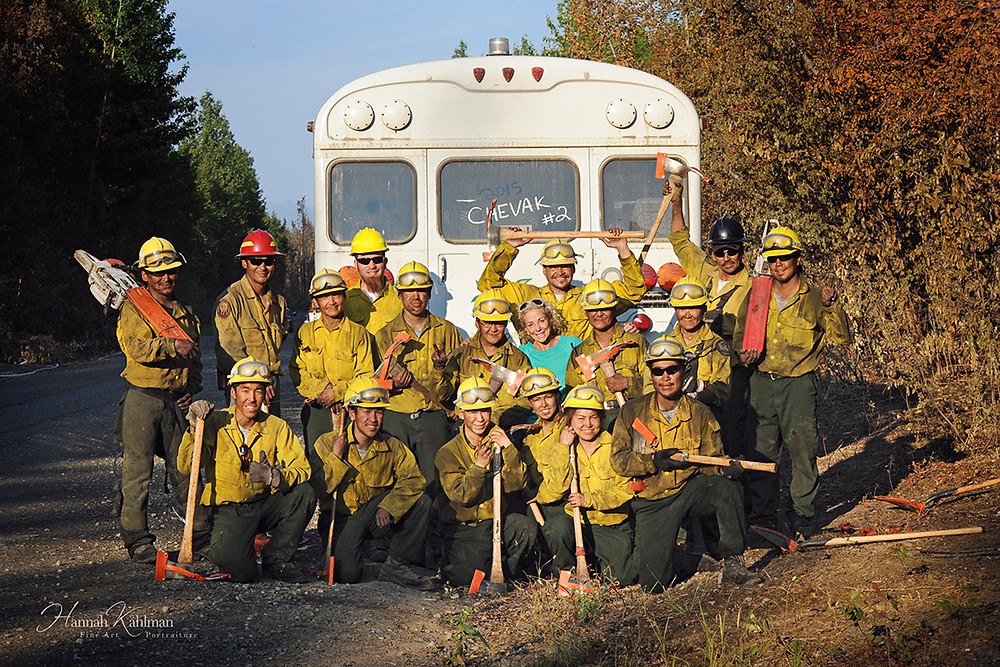 Deedee Jonrowe Chevak firefighters during Sockeye wildfire Willow Alaska Anchorage Alaska photographer Hannah Kåhlman
