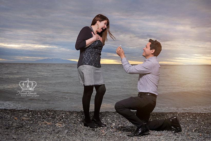 Propsal photo in Anchorage AK by Hannah Kåhlman Photographer Eagle River Photo & Portrait Studio