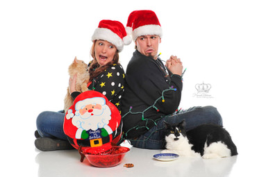 Creative_Christmas_photo_with_cats_eatin
