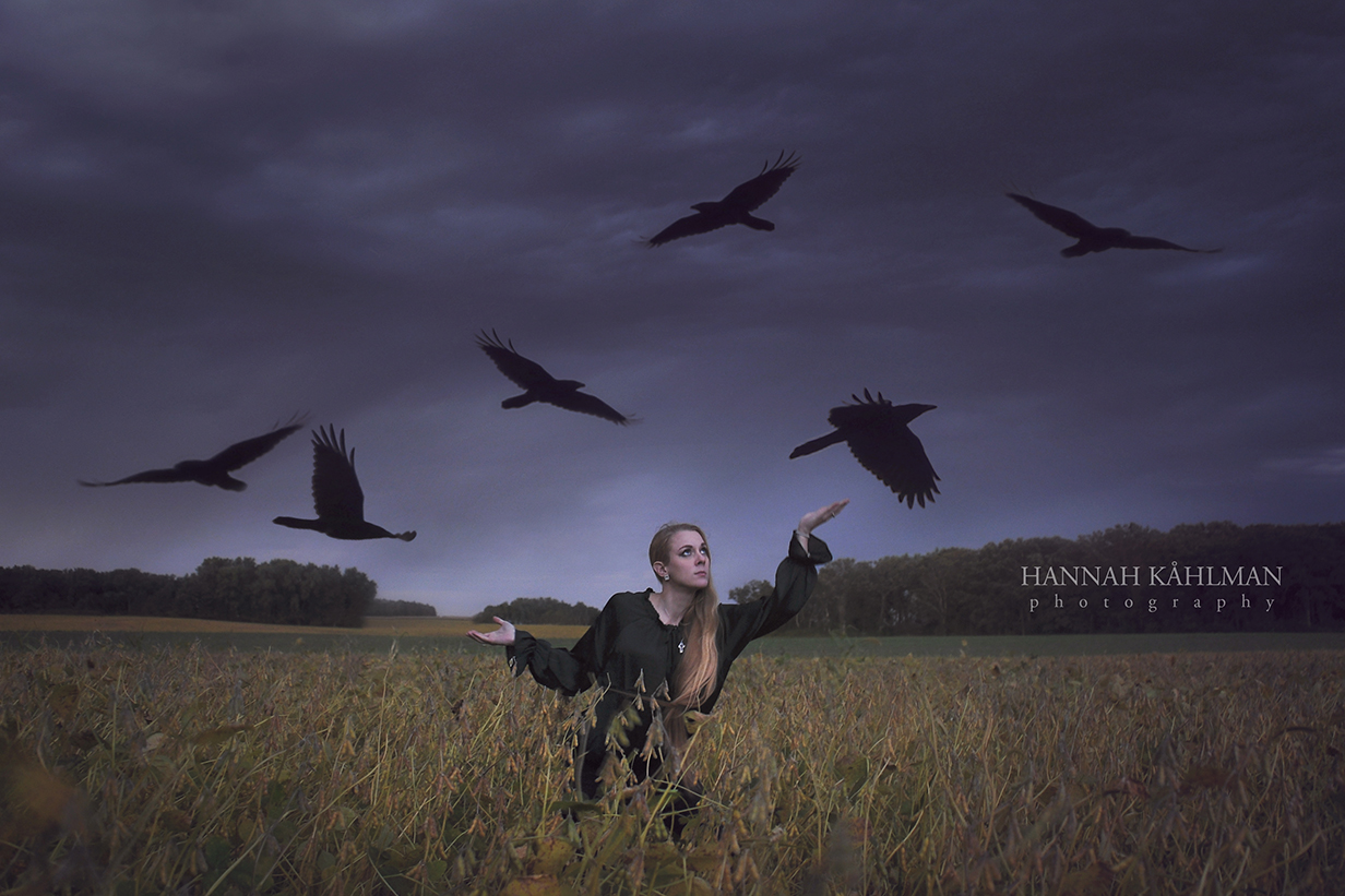 Conceptual_fantasy_selfie_photo_in_Minnesota_USA_with_birds_and_girl_in_field_by_Anchorage_Alaska_fa