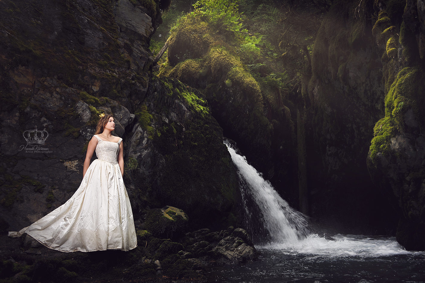 Fantasy_photo_outdoors_by_waterfall_woma