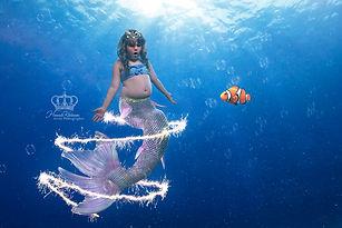 Girl becomes mermaid in creative portrai