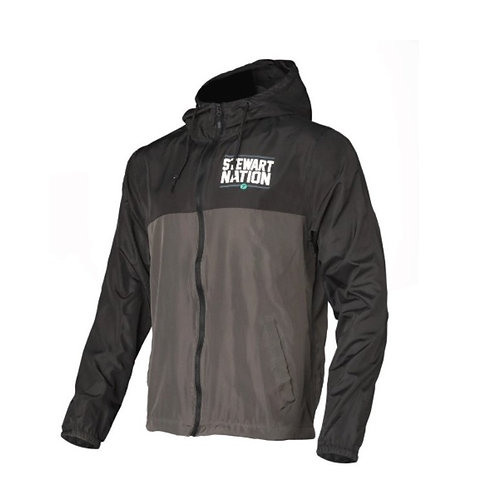 STEWART NATION WINDBREAKER - BLACK