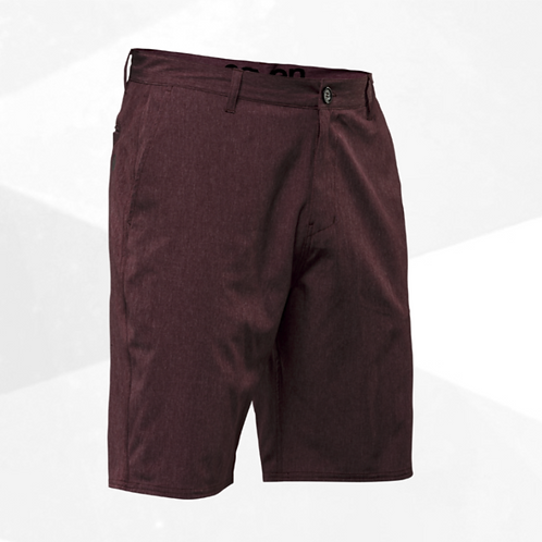 HYBRID SHORT maroon heather  US