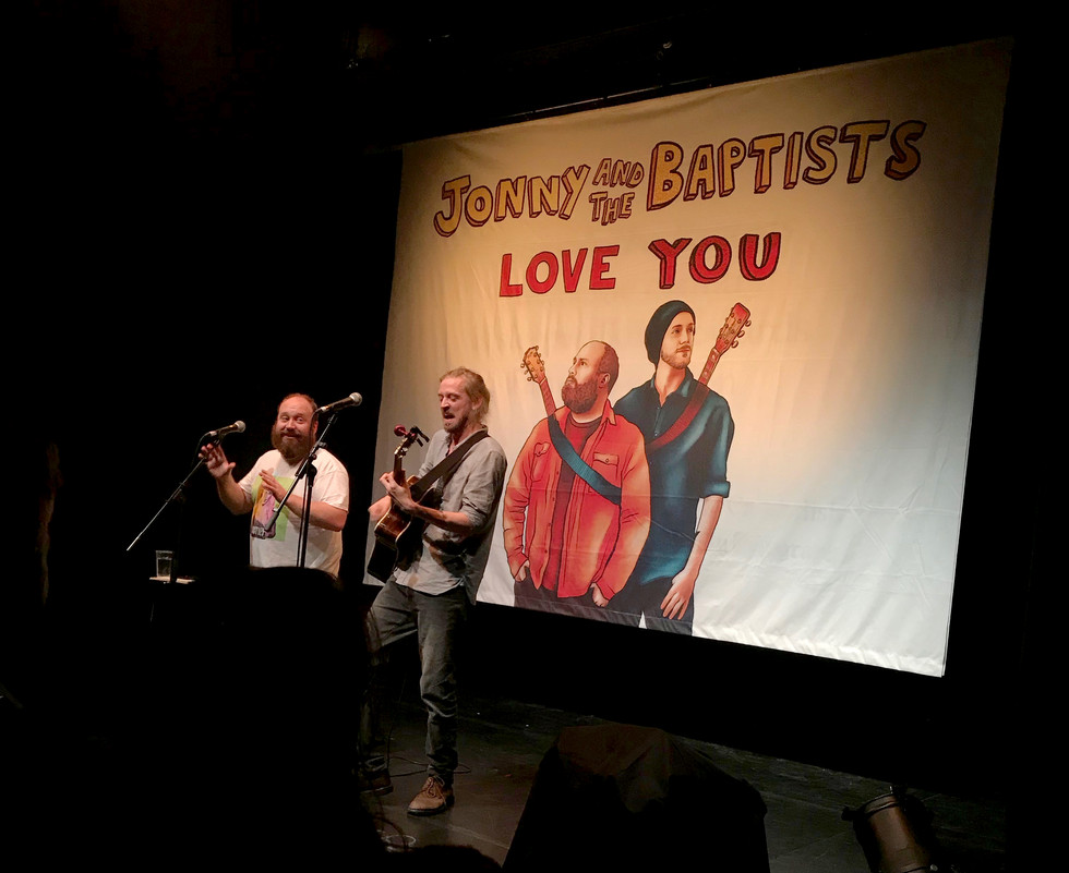 Jonny and The Baptists banner