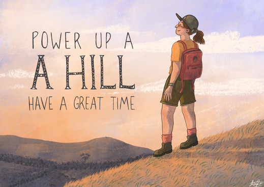 Power up a hill have a great time