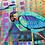 "Thumbnail: Silk scarf ""Blue Heron"""
