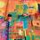 "Thumbnail: Silk Scarf ""Muddy Lines"""