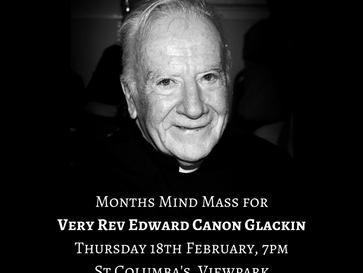 Canon Glackin - Months Mind Mass