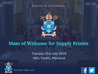 Mass of Welcome for Supply Priests