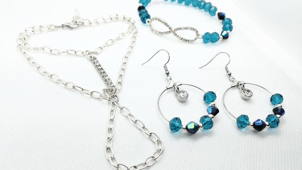 Infinity Chain & earring set