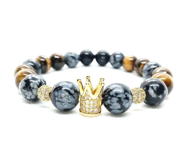 Men's natural stone bracelet