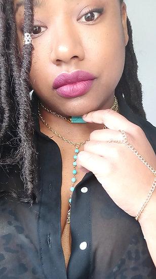 quartz dangle necklace