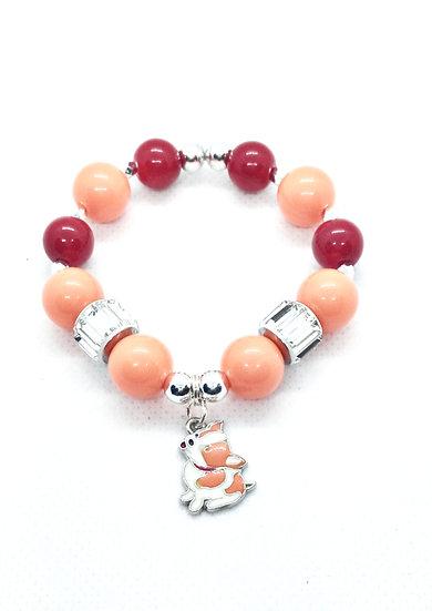 Puppy beaded bracelet