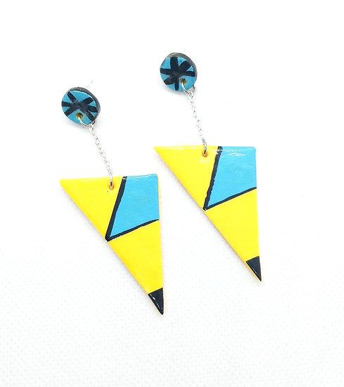 Retro vibes dangle earrings