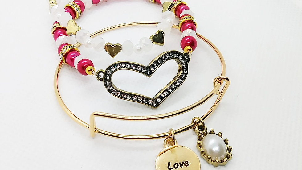 """Love""bangle stack"