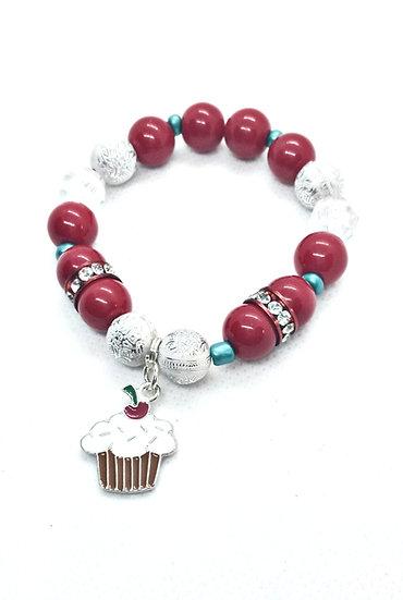 Cupcake beaded bracelet