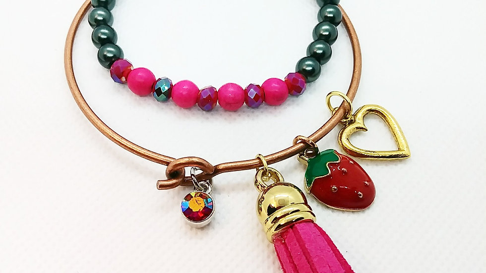 Strawberry Bangle set
