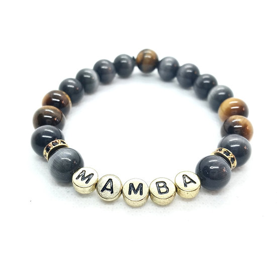 "Mens ""Mamba"" natural stone bracelet"