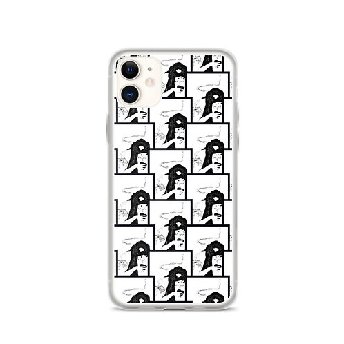 Witchy Woman iPhone Case Black and White Art