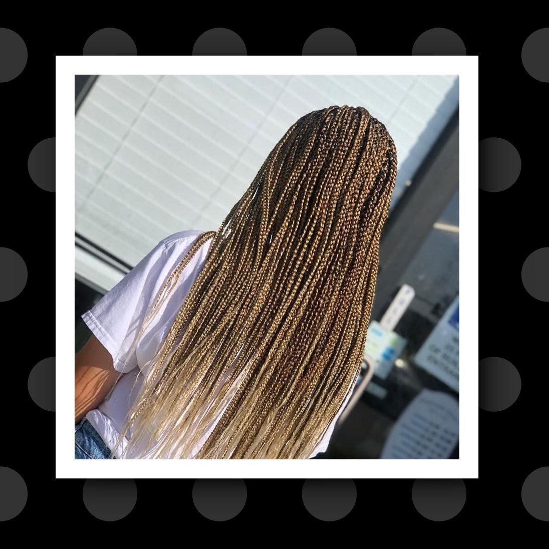 Indi/box braids with 56'' hair (6_7 hrs)