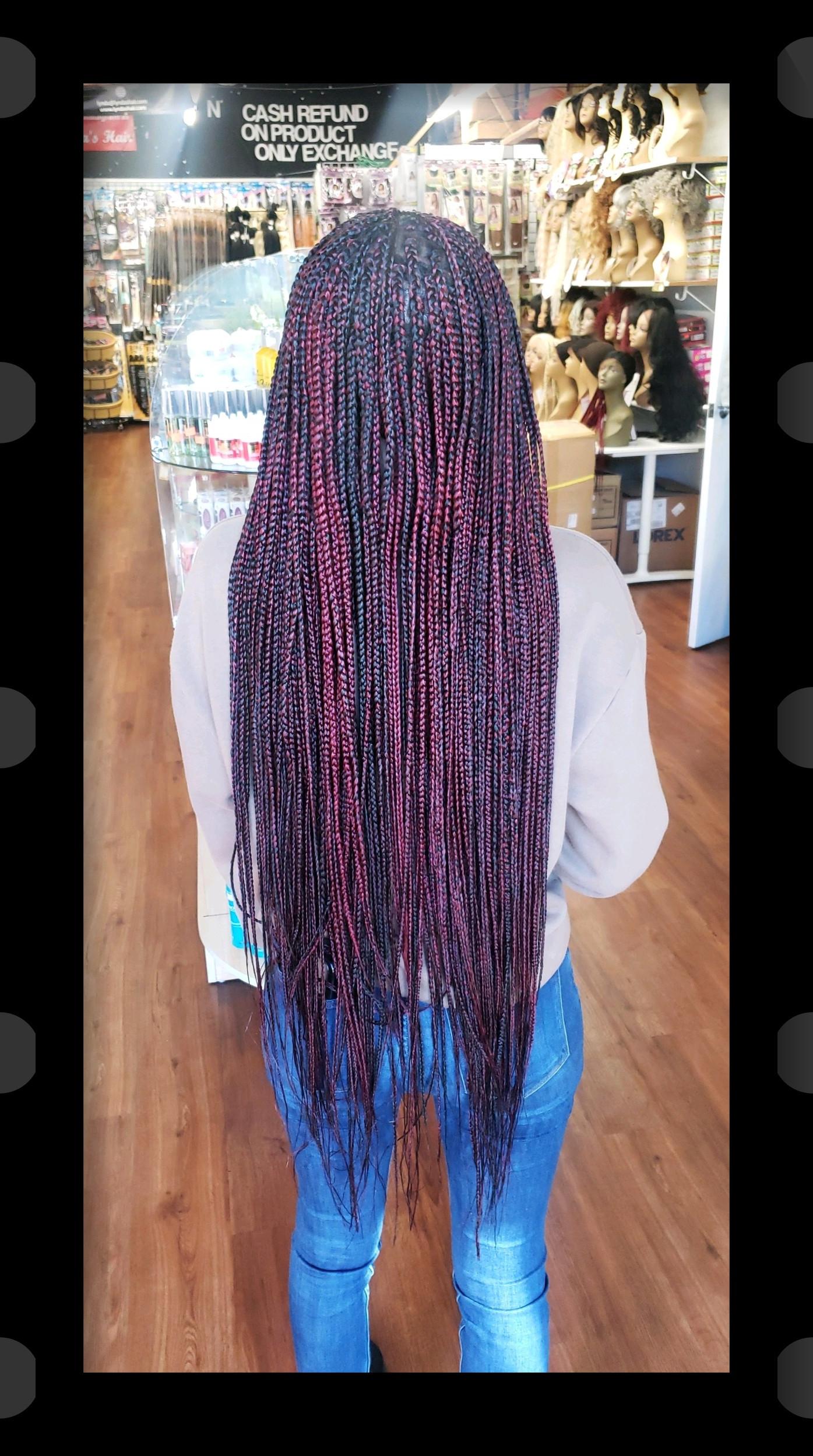 Long medium size individual braids