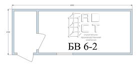 Бытовка БВ 6-2