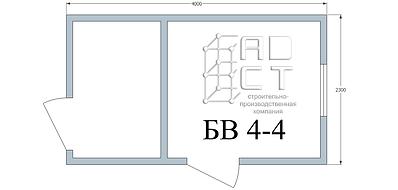 План бытовки 4 метра с перегородкой вид изнутри