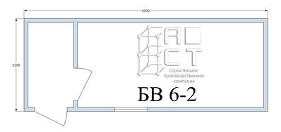 План бытовки 6 метров с тамбуром