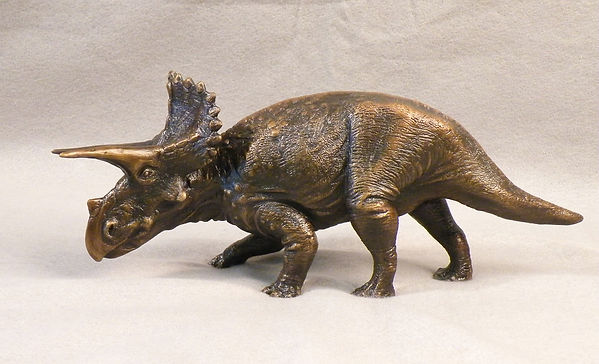 Triceratops reconstruction Smithsonian bronze