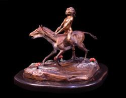 Eohippus and Eohomo bronze