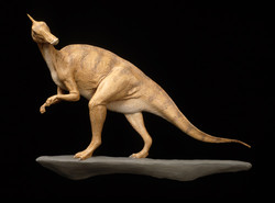 Saurolophus bas relief