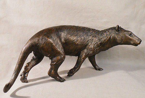 Tetraclaenodon mammal reconstruction Smithsonian bronze