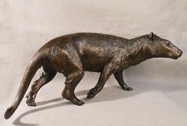 Tetraclaenodon mammal reconstruction Smithsonian bronze