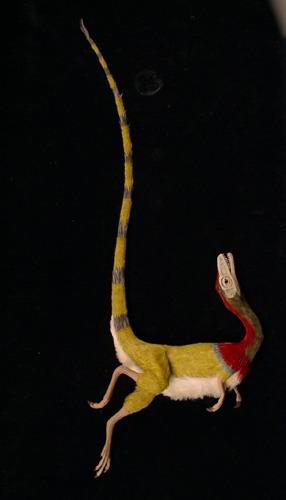 Sinosauropteryx death pose